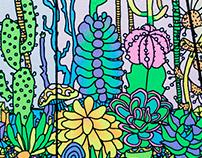 Cactus Terrarium Print
