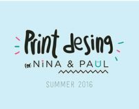 Print Design for Nina&Paul