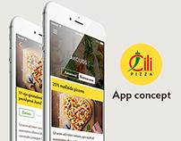 Čili pizza | Restaurant app concept