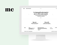 MúzeumCafé website design