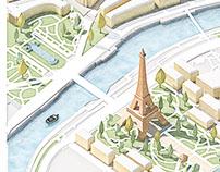 Illustration Eiffeltower, Paris