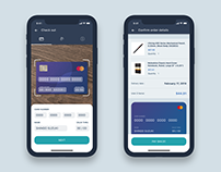 Credit Card Checkout Concept / Adobe XD Auto-animate