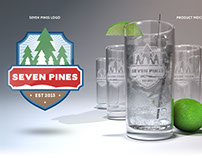 Seven Pines logo & product mock-up