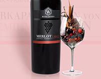 WineGenius - Merlot Wine Label Design & Online Branding