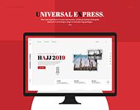 Travel (Universal Express) - UX/UI Interaction Design