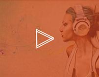 Music Responsive UI / Web Design