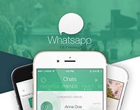 WhatsApp - iOS 9 Redesign