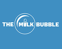 Milk Bubble Logo and TV ad.