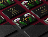 Black Business Cards PSD Mockup