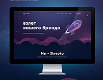 Website concept for creative agency