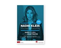 Naomi Klein Book Presentation Poster