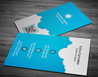 Cloudy Business Card on Graphicriver