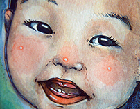 Baby Wen's Teething Portrait