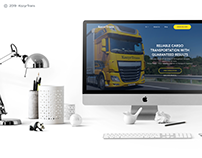 KozyrTrans: transport company landing page (UI design)