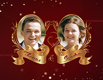 Wedding Invitation in Gold and Red