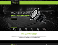 Vision LED UK - Wordpress Theme Design
