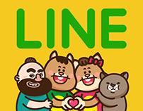 胖松鼠LINE貼圖 (2015)