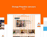 Orange propulse Concours - siteweb