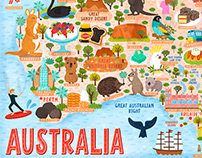 Australia Map Illustration And Design