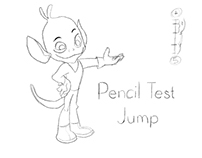 Pencil Test - Jump Tradicional Animation