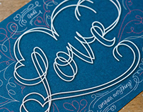 God's Love Conquers Everything – Postcard Design