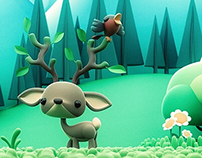 illustration de printemps - Spring illustration 3D