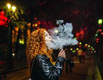 Dreamily smoke