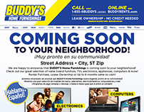 Buddy's Home Furnishings New Store-In-A-Box Materials