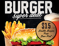 Burger Promotion Flyer Template