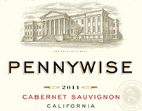Pennywise Wine Label Illustrated by Steven Noble