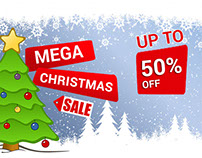 Mega Christmas Sale Email Template Design