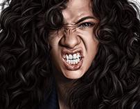Marina Nery angry