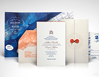 Ellis Island Travel Wedding Invitation