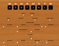 Soundsurgeon HTML5 Synthesizer — UI Design