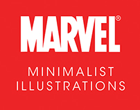 Minimalist Illustrations of Marvel Characters