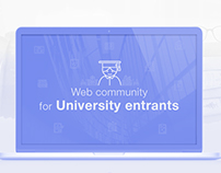 Web community for University entrants