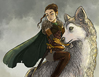 Arya Stark & Nymeria