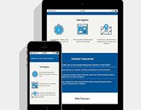 Central de Serviços Corsan: Layout para site responsivo