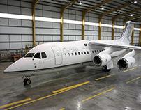 BAe-146 - Avro RJ 200 Interior