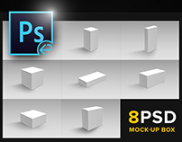 Package Box Mockups (8 PSD)