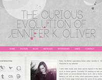 Web and graphic design for author website.