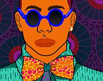 Blue Sunglasses & Bow Tie