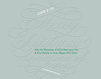 Lettering for Christmas 2014