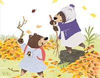 //雜誌插畫// 2017小行星幼年童話-森林好朋友