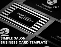 Free Salon Business Card Template