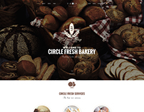 Circle - Bakery Onepage PSD Template