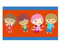 Cute Little Kids Vector Graphics