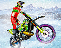 Snow Tricky Bike Impossible Track Stunts 2020
