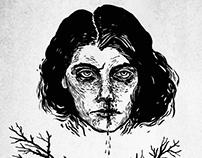winter portraits - 3 drawings