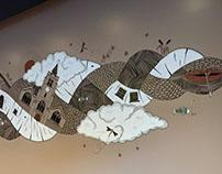 Zizzi Chiswick Restaurant Wall Murals